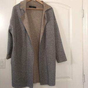 Zara knit gray long sweater